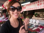 Yuyu showing me some famous Taiwanese chewing fruits