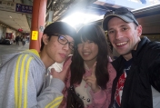 Two very friendly Taiwanese people which I met on my trip to Lukang