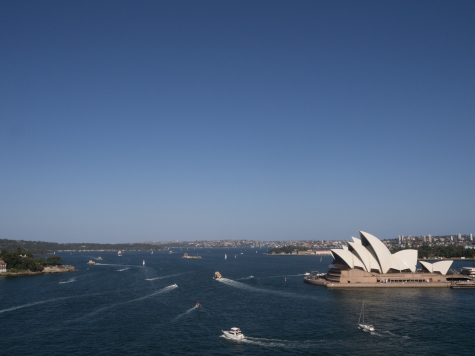 I love this view from the Harbour Bridge