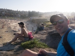 Enjoying the beach life at Bronte with Petra