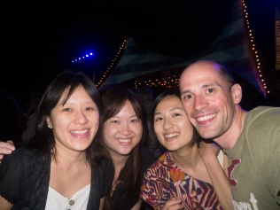With Yoke, Anna and Carol ot the Sydney Festival