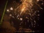 Fireworks at friday night on Waikiki Beach