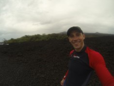 Hiking in the Lava fields