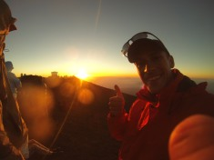 Sunset thumb up :)