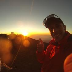 Sunset thumb up :)