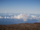 Rainbow seen from above the clouds