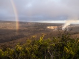 Rainbow and crater
