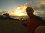 Thumb up for the sunrise here in Kaua'i