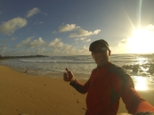 Yeah, running on the beach is awesome!
