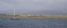 Sailing along the coast in Kaua'i