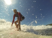 Great waves, awesome weather, warm water, great times :)