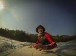 Surfing at Playa Grande, Montezuma, Costa Rica