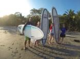Surf instructor with Lauren, Kat, Diane