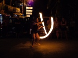 Kelly in her fire poi performance