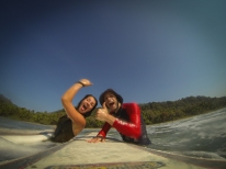 Affirming others for positive things (here Surf lesson in Costa Rica)