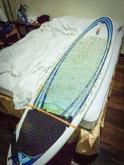 Almost went in bed with my surfboard