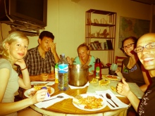"Dinner at ""home"" with Hope, Marc, Lauren and Amanda"