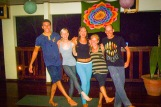 Yoga group with our amazing teacher Silvia in the middle
