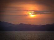 Sunset on the way to Puntarenas