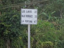 67km till La Fortuna