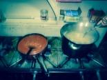 Dinner time in Pension Santa Elena