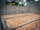 Work for day 1 is to help make the floor for one of the class rooms