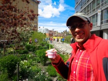 Highline Park in New York with a delicious ice cream