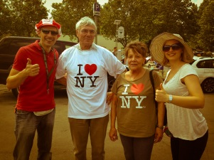 "One of many great stories, after some ""persuasion"" we convinced him to buy the I love NY Shirt :)"