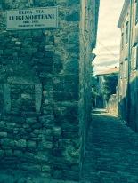 Tiny street aisle in Motovun
