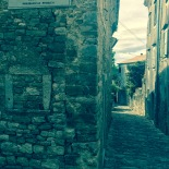 Tiny street aisle in Motovun