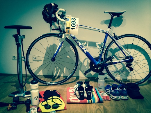 All my gear for the first triathlon