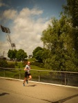 Running in the Olympic park