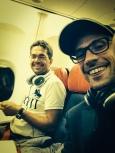 Michel and Sven on their way to Bishkek