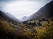 Mounts outside of Bishkek