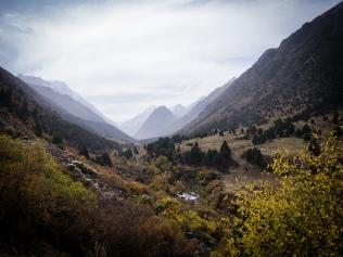 Mounts outside of Bishkek