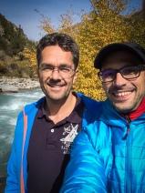 Michel and Sven enjoying the hike