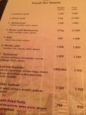 OK this is an interesting menu 10kg lamb (!!!)