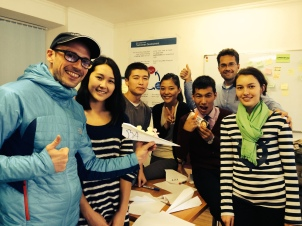 Winner team of one of the many games we did to teach them real work life challanges