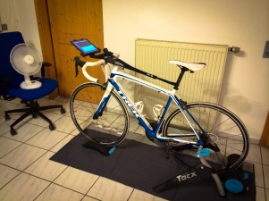 Practicing some cycling indoors