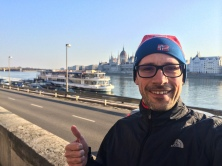 Running in Budapest, Ungary
